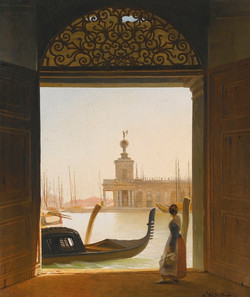 Venice, A View of the Dogana Seen Th
