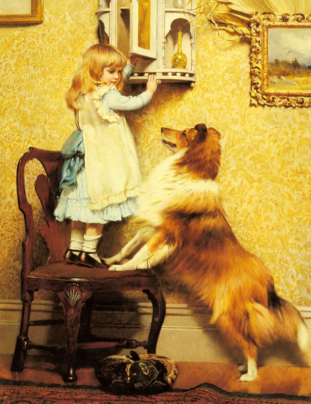A Little Girl and her Sheltie