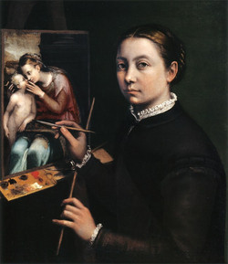Self Portrait at the Easel Painting