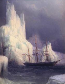 Icebergs in the Atlantic - detail
