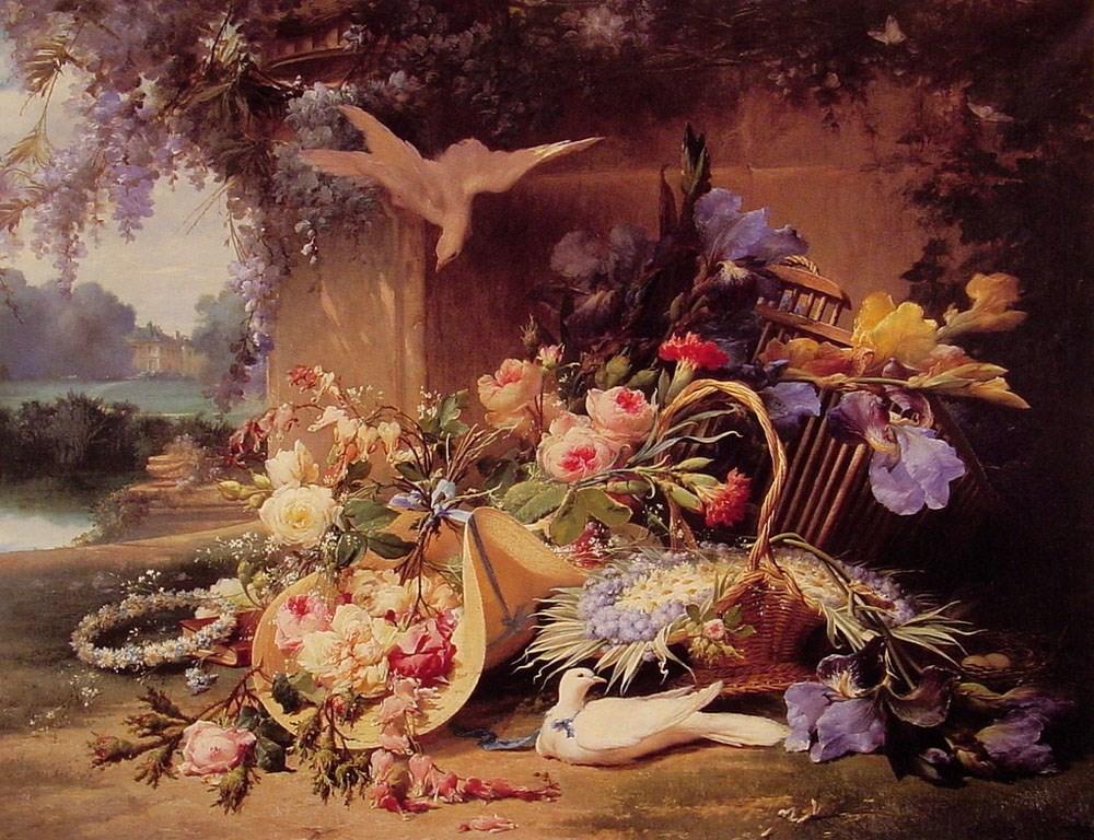 Elegant Still Life with Flowers