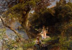 Mediterranean Landscape with Figures