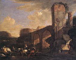 Italianate Landscape with a River an