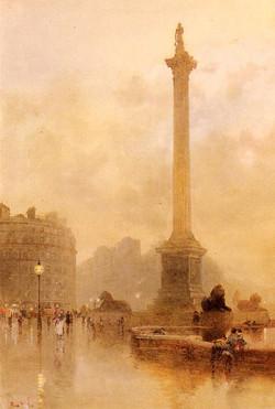 Nelson's Column In A Fog