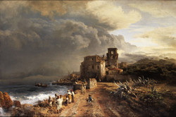 Shaded Seaside Landscape with Figure