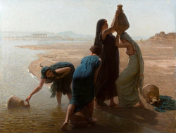 Femmes fellahs au bord du Nil Fellah