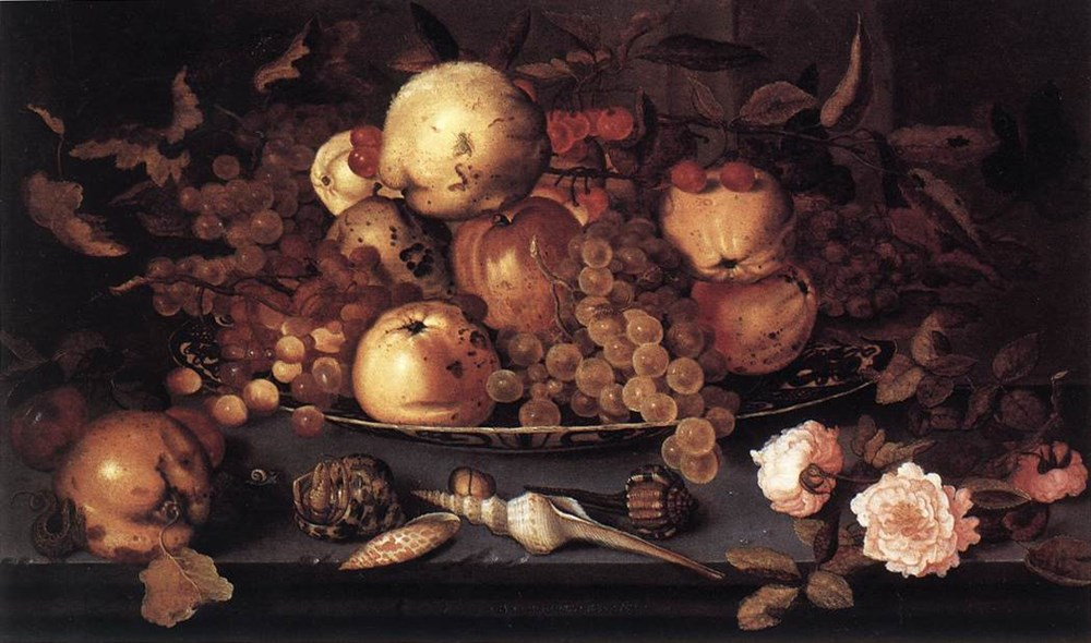 Stilllife with Dish of Fruit