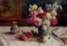 roses,_a_vase_and_some_books_on_a_table-
