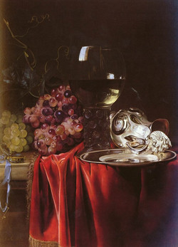 A Still Life of Grapes, a Roemer, a