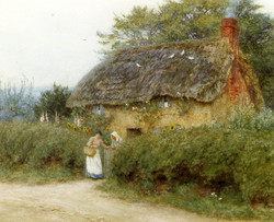 A Cottage With Sunflowers At Peaslak