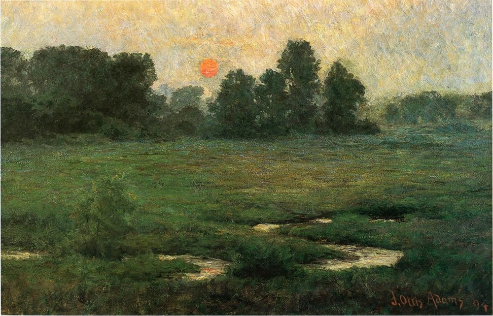 An August Sunset  Prarie Dell
