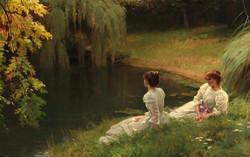 Elegant Ladies at Rest