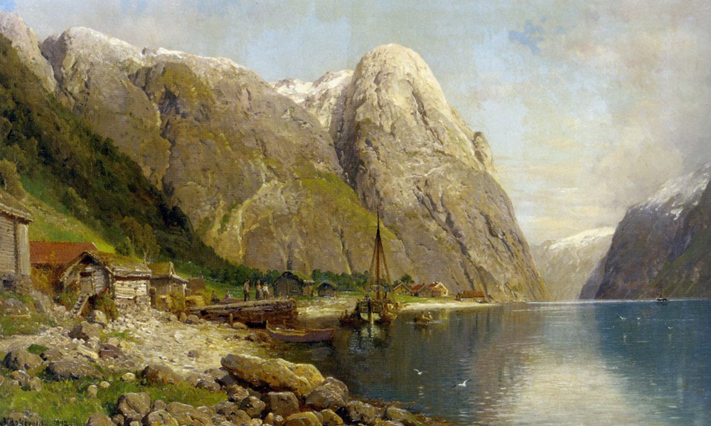 A Village by a Fjord