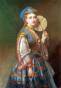 A Portrait of a Lady Dressed in Otto