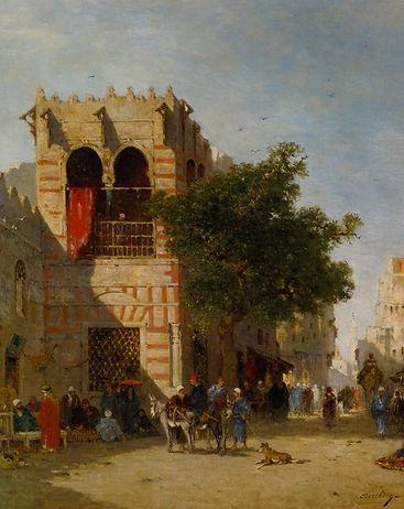 Berchere_Narcisse_A_Busy_Street_Cairo_Oi