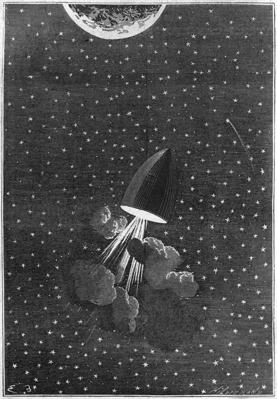 """Illustration for Jules Verne's """"De L"""