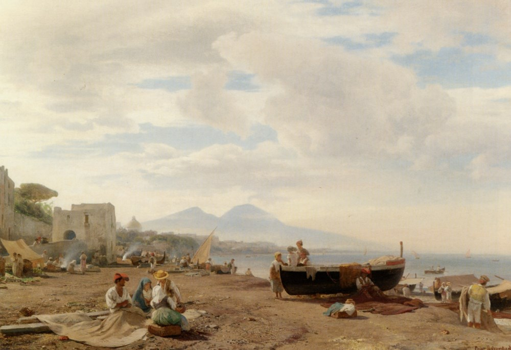 Fishermen on the Amalfi coast