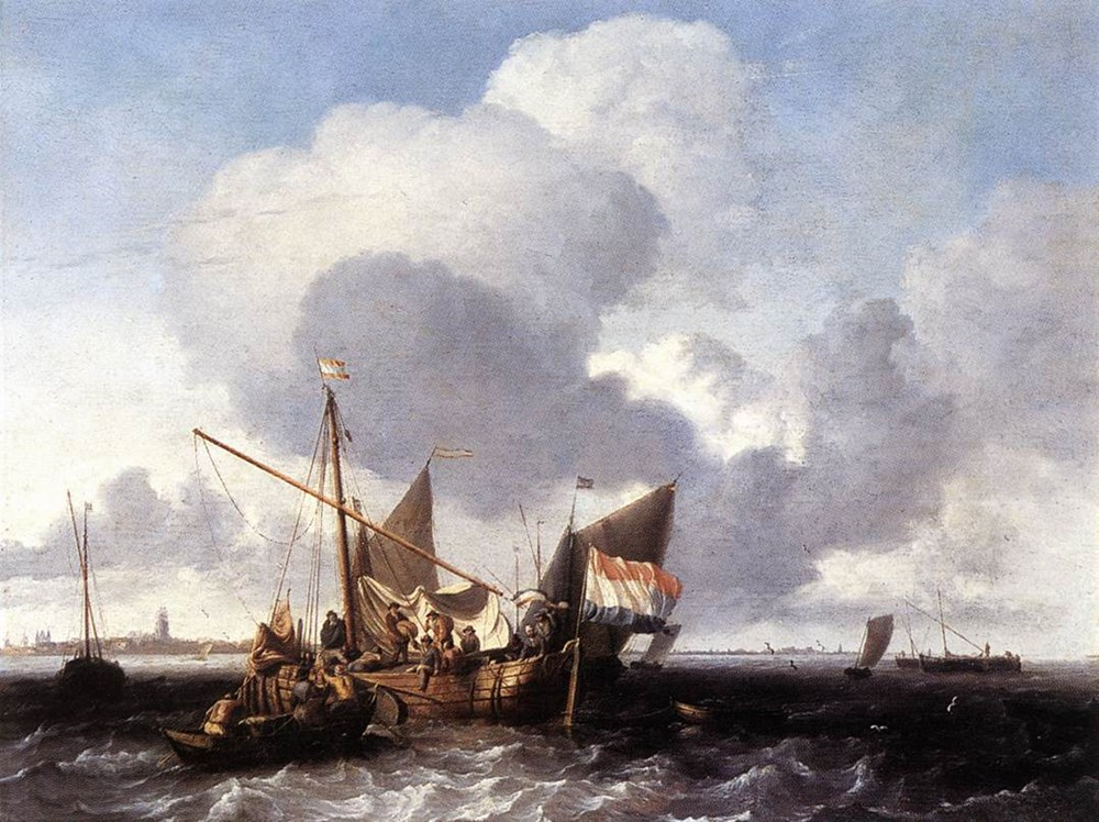 Ships on the Zuiderzee before the Fo