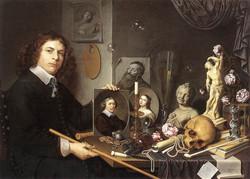 Self-portrait With Vanitas Symbols