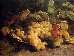 Autumn Treasures: Grapes In A Wicker