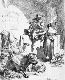 Shepherd at the Well with the Spinni