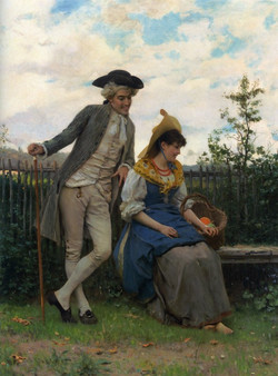 Andreotti_Courtship_oil_on_canvas_80x106