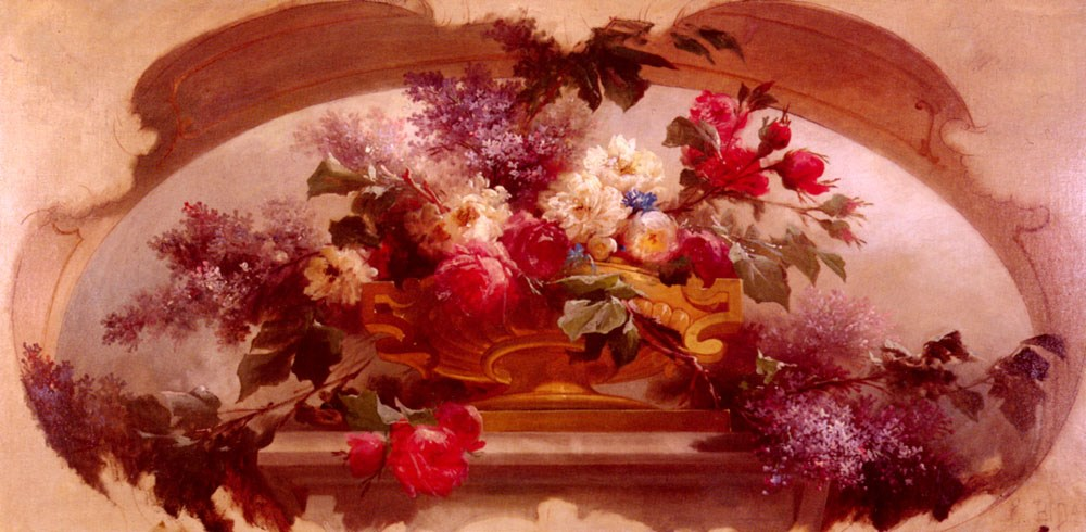 Flowers in a Gilt Vase