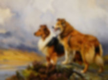 Barker_Wright_Two_Collies_Above_A_Lake_O