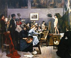 In the Studio In the Academie Julien