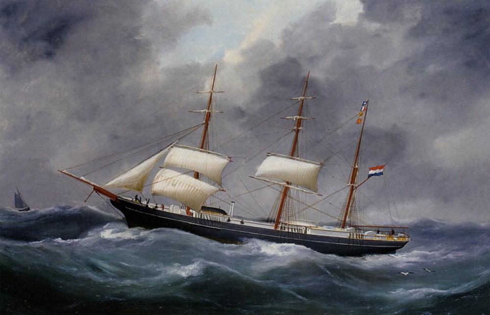 A Three Master at Sea