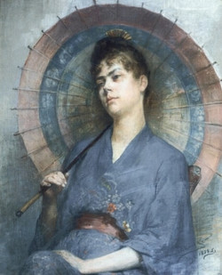 Woman with a Japanese Parasol