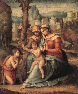 Madonna with Child, St Elisabeth and