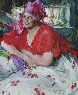 Young Peasant Woman in Red