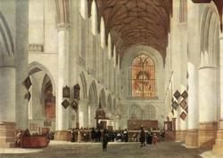 Interior of the St Bavo Church at Ha