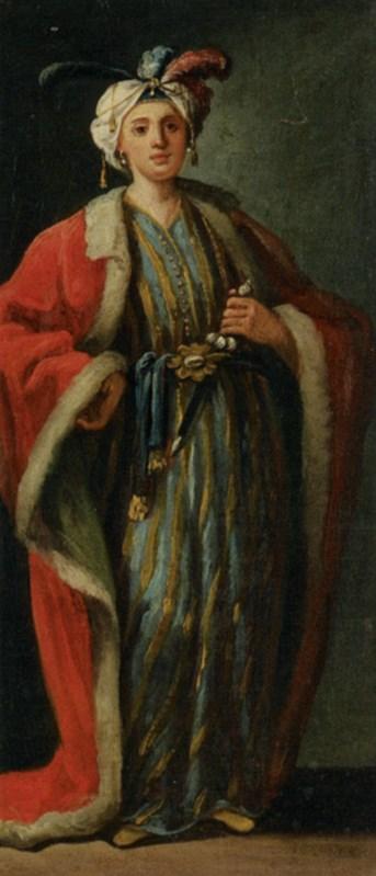 Figure Full Length Dressed a la Turq