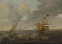 Dutch Ships on a Rough Sea