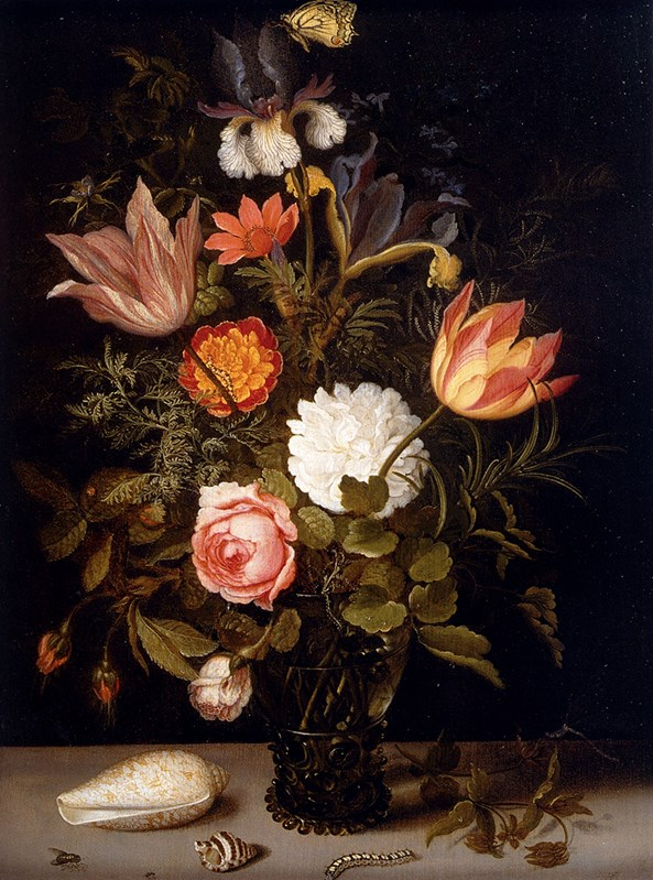 Still Life Of Roses, Tulips, Irises