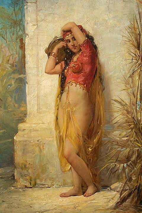 Harem Girl with Tambourine