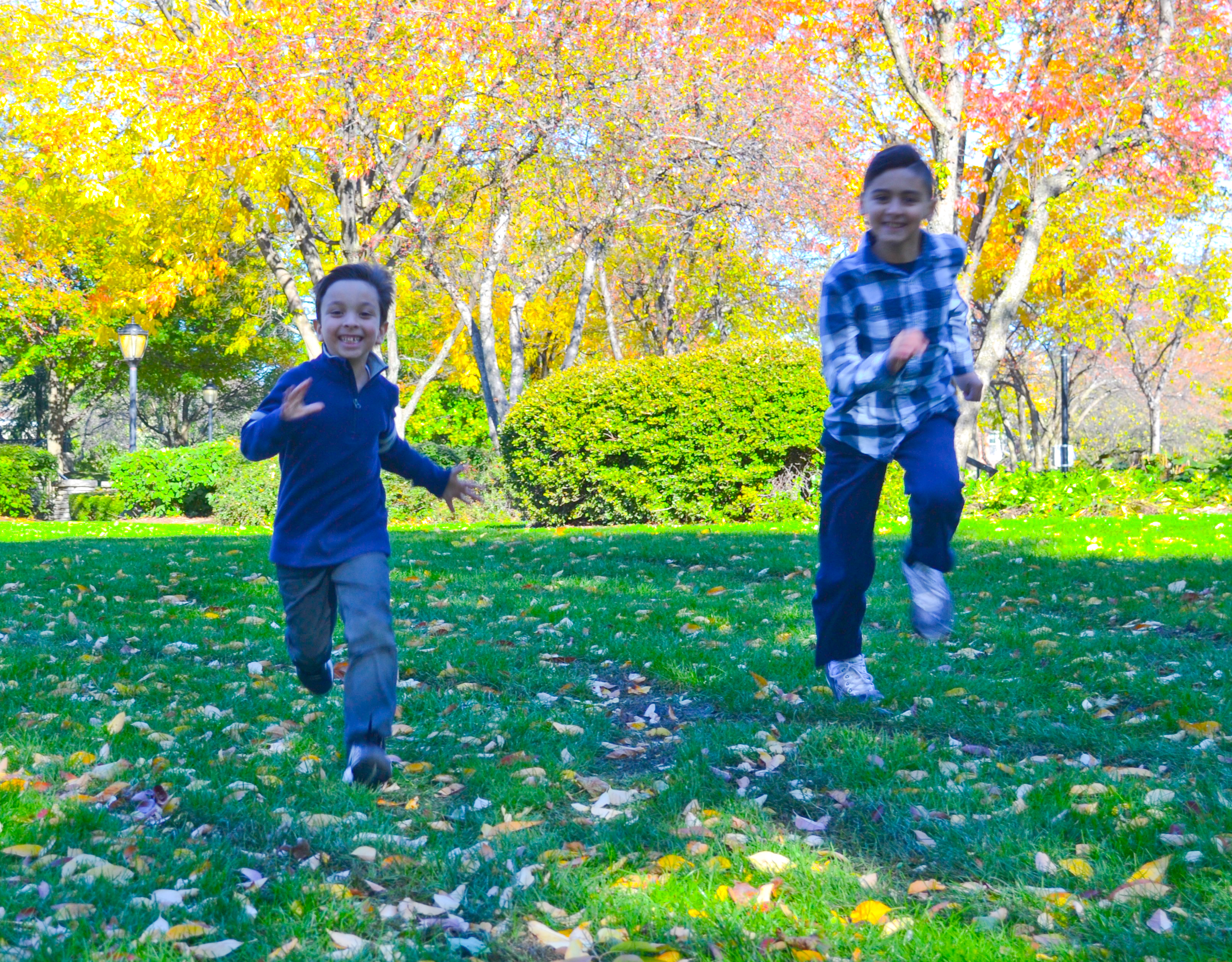 Boys Running in Color 2