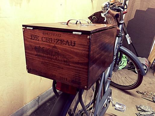 Wine Crate Turned Bike Basket