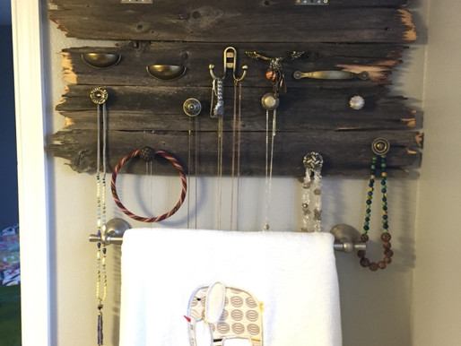 Trashed Fence to Jewelry Hanger