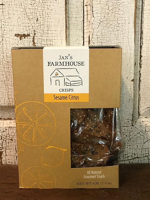 Jan's Farmhouse Crisps Sesame Citrus