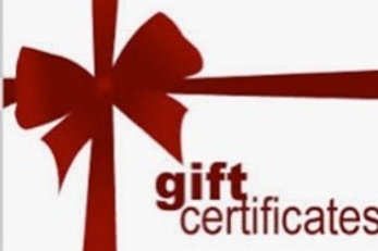 Gift Certificates (Choose your amount)!