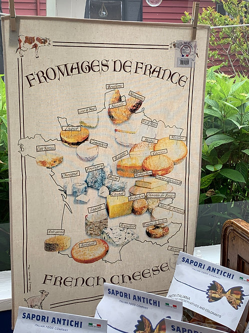 Torchon (Tea Towel) Carte Fromages