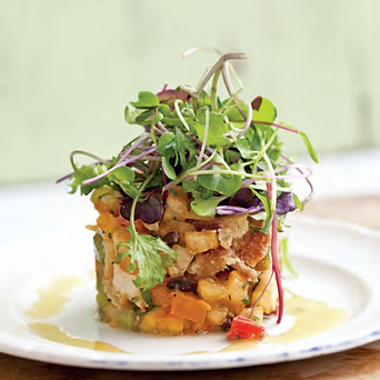 Tomato Tartare and Kale Micro Greens wit