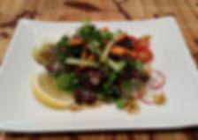 Micro Kale and Radish Micro Green Salad.