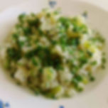 Vernal Rice with Sp[ring Onions  Chive a