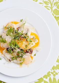 Micro Fennel Orange Salad with Kalmata O