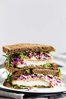 Chrispy Chicken Sandwich with Cabbage Mi