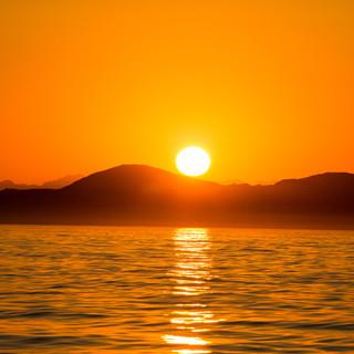 sunset false bay